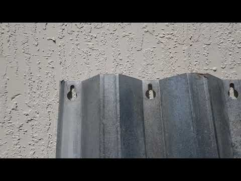 Simple trick for installing steel shutters
