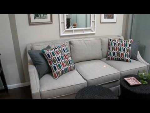 How To Dress Up A Sofa : Decorating U0026 Interior Design   YouTube