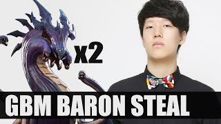 GBM (GankedByMom) steals the Baron with Viktor's laser! TWICE! Dignitas vs NRG W1D1 S6 NA LCS!
