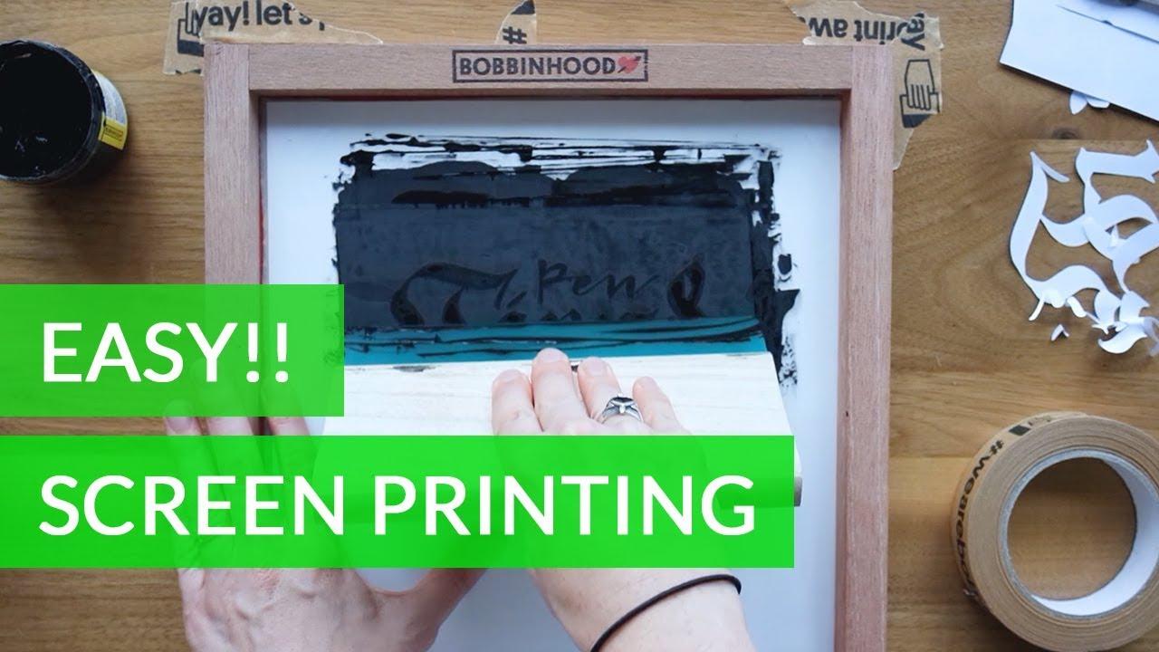 Easy Screen Printing at Home with Bobbinhood