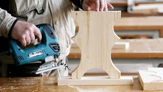 Изготовление ножки для скамейки