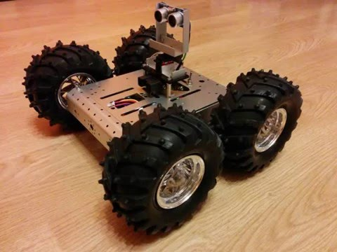 Follow me robot - first test in autonomous mode