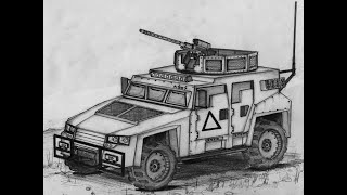 How to Draw an Armored Assault Vehicle (Concept Sketch)