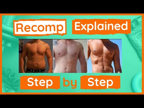 Body Recomposition For Men (Step by Step at each stage)