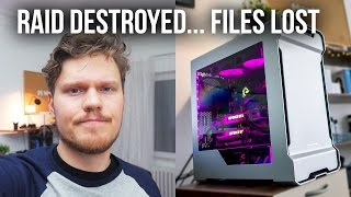 HOW I DESTROYED My SSD RAID 0 Array :(