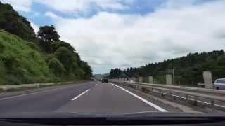 東北自動車道 上り 二本松IC - 郡山JCT - 郡山IC [4k 車載動画 2014/07] Z46