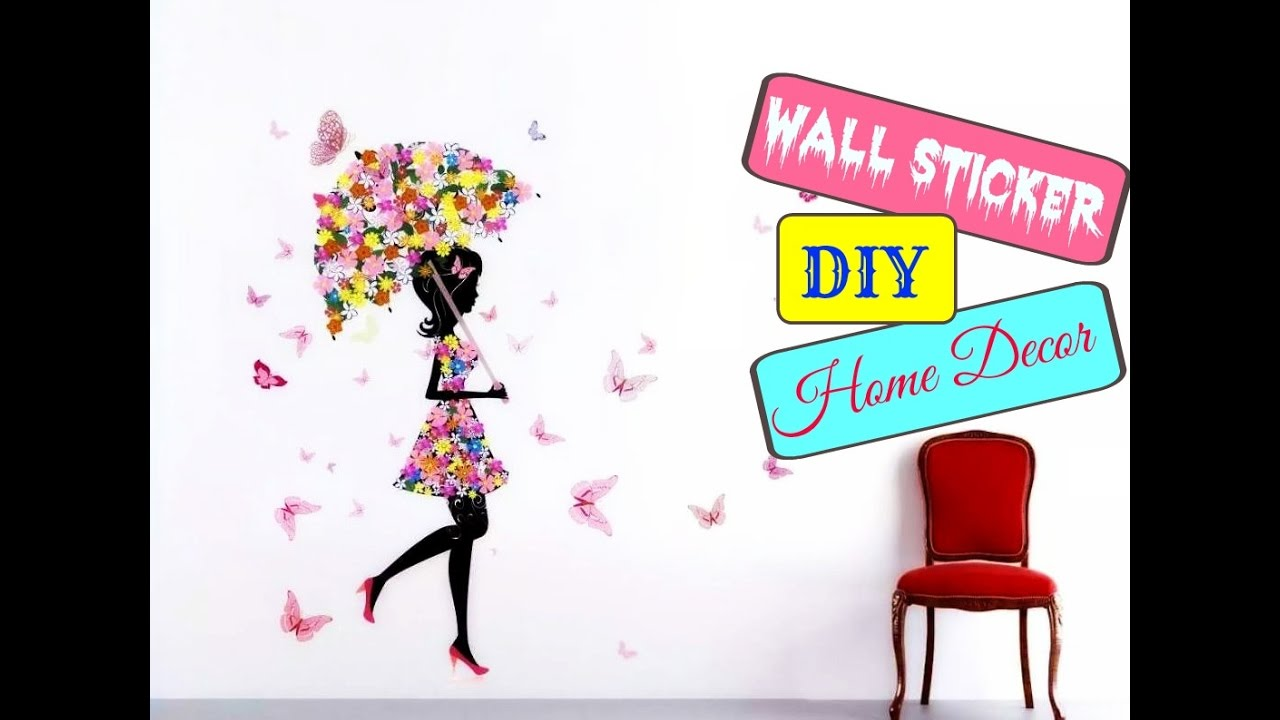 How to apply a wall sticker home decor idea easy and how to apply a wall sticker home decor idea easy and affordable diy amipublicfo Gallery