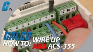 How to Wire Up I/O on ABB ACS-355 AC Drive for ABB Standard Macro(Wiring up an ABB ACS-355 I/O for ABB Standard Macro presented by Katie Rydzewski for Galco TV. Buy the items featured in this video at 800-337-1720 or visit: ..., 2014-07-09T17:50:30.000Z)