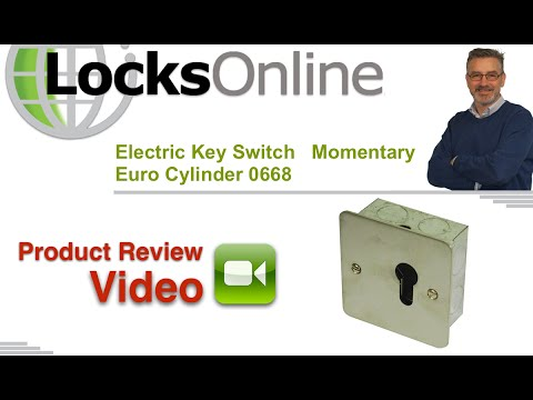 Electric Key Switch   Momentary Euro Cylinder 0668   LocksOnline Product Reviews