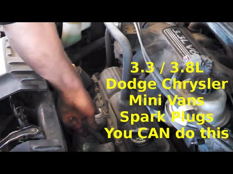 Spark plug replacement 2006 Dodge Caravan 33L 38L wires Install or