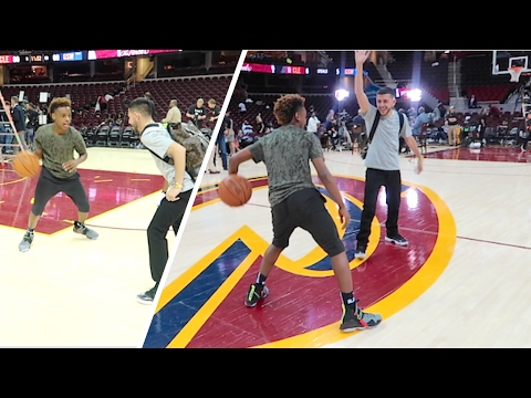 1v1 vs LEBRON JAMES JR! (AT NBA FINALS)