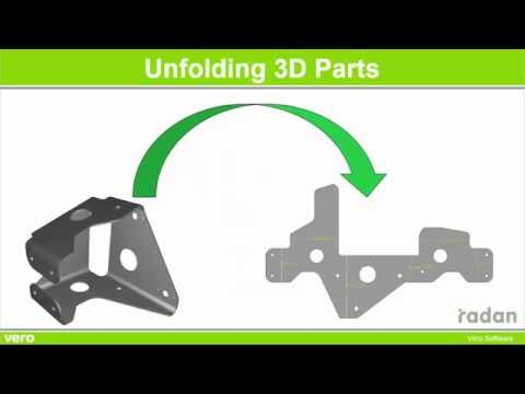 Unfolding a 3D-object in RADAN Развертка 3D-обьекта