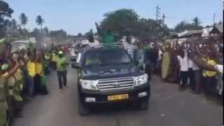 Magufuli alivyozomewa leo 22/10/2015