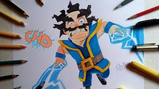 Como Dibujo Al Mago El Ctrico Clash Royale Trada Art From Youtube