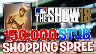 150,000 STUB SPENDING SPREE! MLB The Show 18 | Diamond Dynasty Gameplay