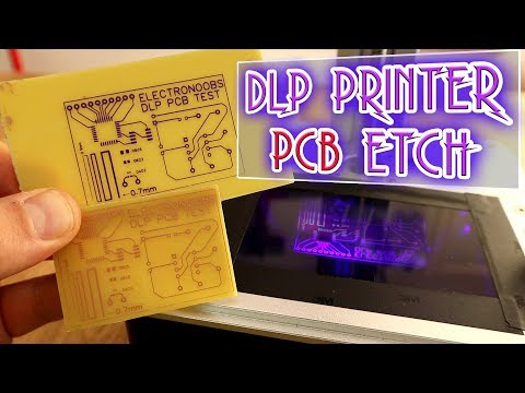 Using DLP 3D printer for PCB etch - surprising results