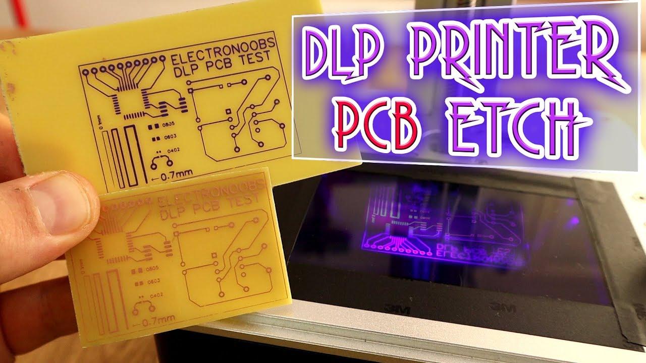 Using DLP 3D printer for PCB etch