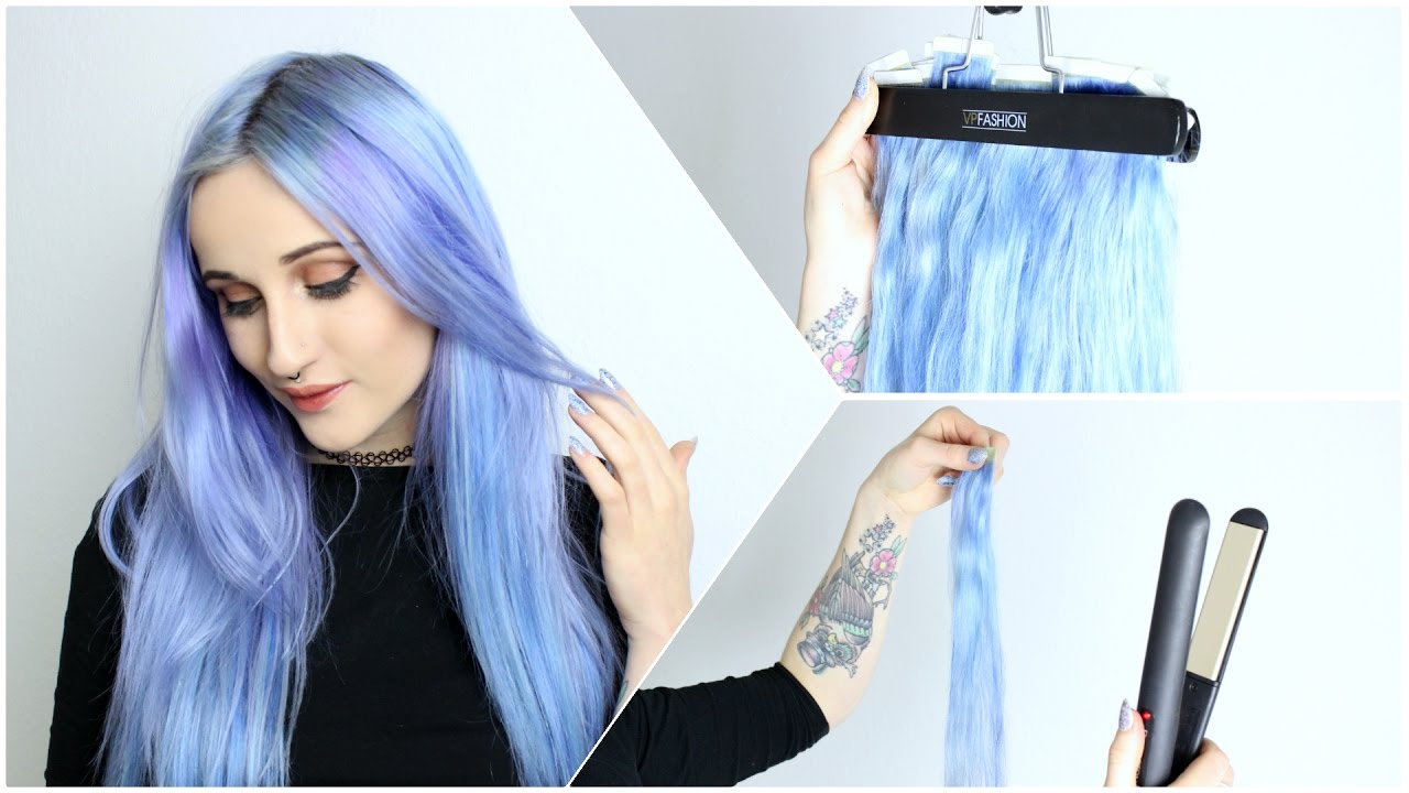 Tape In Hair Extensions Prep Dye Youtube