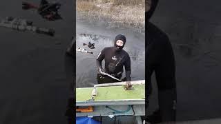 Подводная охота осень волга ледокол