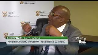 SA health minister reacts to Tiger Brands CEO's comments on listeria