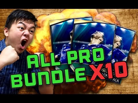 ALL PRO BUNDLE X 10 OPENING!! FIFA 17 MOBILE IOS / ANDROID