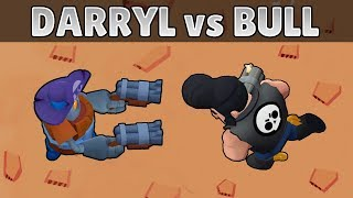 DARRYL vs BULL | 1 vs 1 | 27 Tests | Brawl Stars