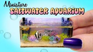 Miniature Saltwater Aquarium Tutorial // DIY Dolls/Dollhouse
