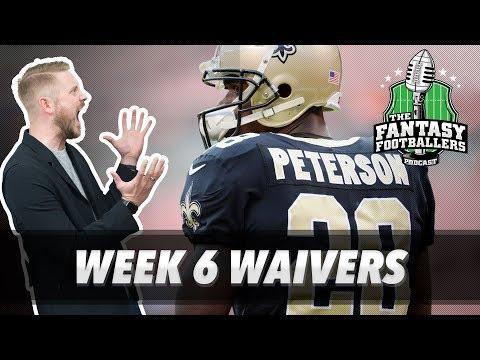 Fantasy Football 2017 - Week 6 Waivers & QB Streamers, Breaking News - Ep. #454