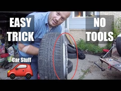 Mount a TIRE on a RIM by hand - EASY TRICK - Changing Tires Mounting / Stretching Tire Trick ✔️