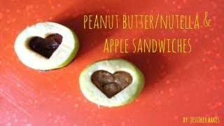 Peanut Butter/nutella & Apple Sandwiches - Back To School Series!