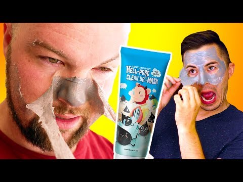 Men Try the Most Painful Face Mask - Hell Pore Clean Up Mask