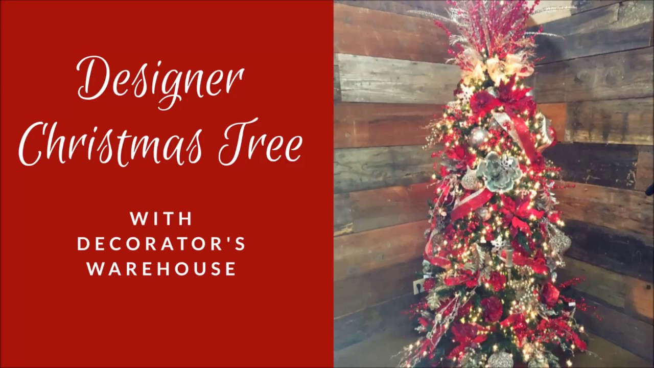 designer christmas tree decorating tutorial - How To Decorate A Designer Christmas Tree