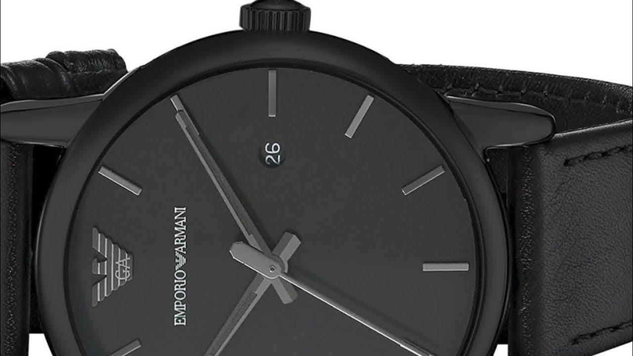 c8985242 Emporio Armani Men's AR1732 Dress Black Leather watch