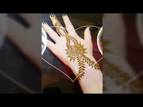 Easy Simple Flowing Mehndi Heena Designs Tutorial-mehndi Design For Hands..