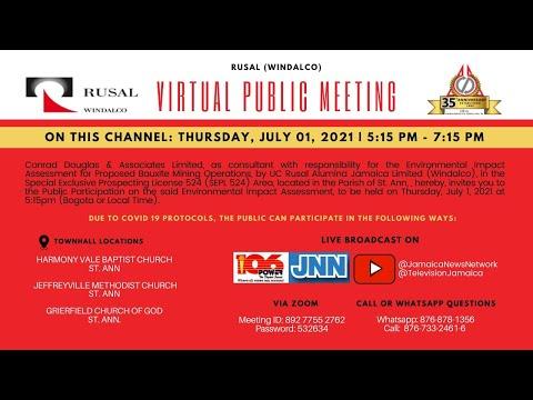 RUSAL (WINDALCO) Virtual Public Meeting