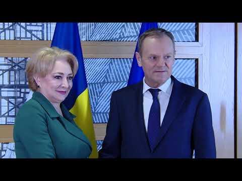 20/02/18 Intrevederea PM Viorica Dancila cu Presedintele Consiliul European Donald Tusk
