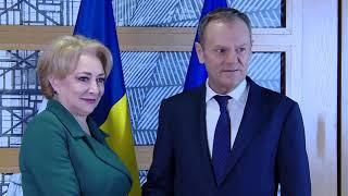 20/02/18 Brusseles: Intrevederea PM Viorica Dancila cu Presedintele Consiliul European Donald Tusk
