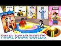 PS4 Lego Incredibles 2 Unlocking ALL Pixar Characters Showcase Final Builds Junior Woody Gameplay