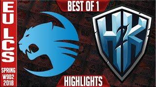 ROC vs H2K Highlights | EU LCS Week 9 Spring 2018 W9D2 | Roccat vs H2K Highlights