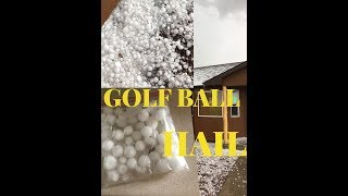 CRAZY GOLF BALL HAIL DESTROYS HOME AND VEHICLES!!!!!
