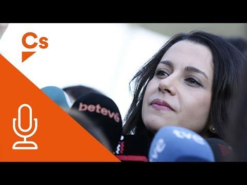 Inés Arrimadas. Declaraciones tras visitar el Smart Cities Expo en Barcelona