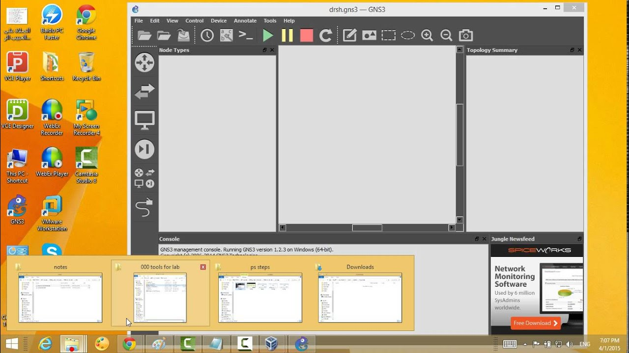6 how to save and open project on gns3 by m shahen