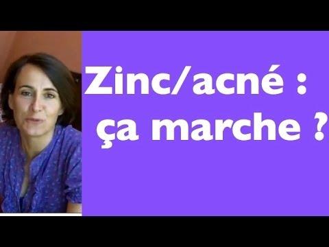 zinc pour acné
