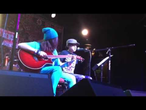 Hunter and Rosie perform at Rock Camp
