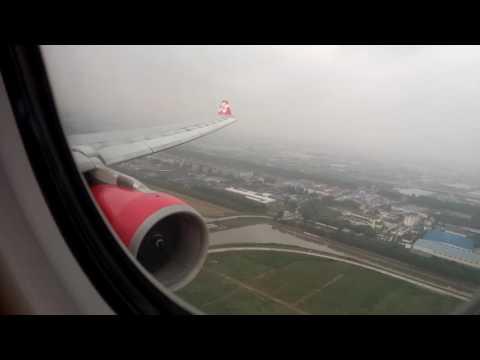 Landing at Shanghai with Thai Airasia X A330-300