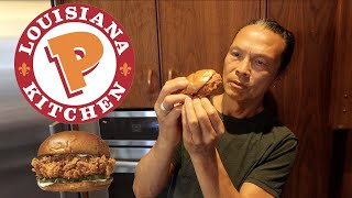 Iron Chef Dad Turns Popeyes Chicken Sandwich Gourmet...