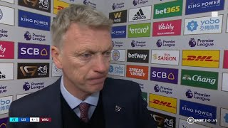 Moyes: We need some more energy and fresh legs