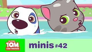 vuclip Talking Tom and Friends Minis -  Swimming Pool Challenge (Episode 42)