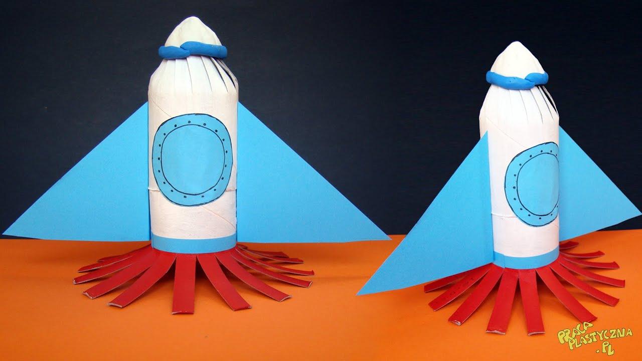 Rakieta kosmiczna - praca plastyczna - YouTube