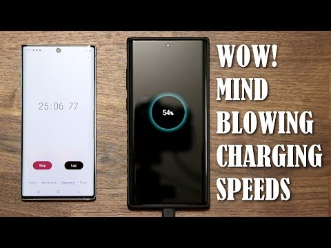 Galaxy Note 10 Plus Fast Charging Speed Test 25 Watt